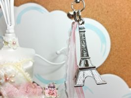 Eiffel Tower Phone Strap by lovelypeachbunny