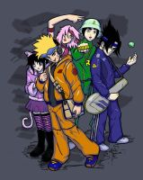 Naruto and Friends Fun by sykoeent