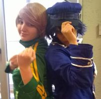 Naoto and Chie by Work-Of-Dragons