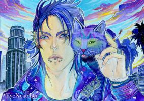 LA and two Cats by Eye-X-catcher