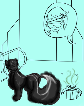 Squees Present WIP by catseathedevil