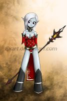 Dark Elf Chibi by Exart