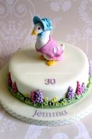 Beatrix Potter's Jemima Puddle Duck - Cake Topper by zoesfancycakes