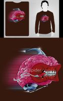 Brain_Rush T-shirt by SEspider