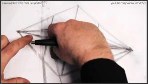 How to draw two point perspective 012 by drawingcourse