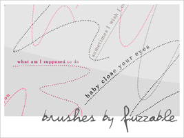 Brushes - Dotter lines + lyric by msLana