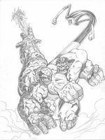 Hulk vs Thing by LakLim