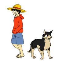 Luffy Wolf Children Style by XfangheartX