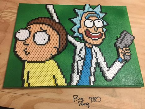 Rick And Morty Perler by Pingpong980