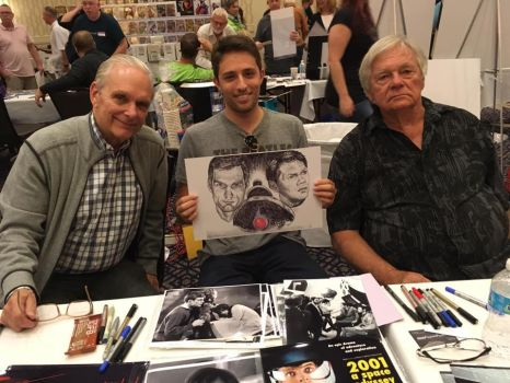 Keir Dullea and Gary Lockwood with my art 2001 by smjblessing
