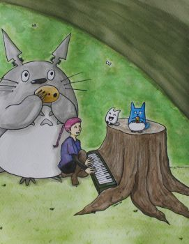 Grimes and Totoro by Epi-chan21