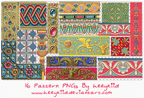 16 Pattern PNGs By heeykiid by heeykiid