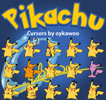 Pikachu Cursors by oykawoo by oykawoo