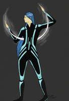 Tron Inspired Character by aireona93
