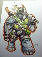 rocksteady 8.5x11 by colepetersonart