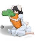 -Tewi and Big Carrot by Wanganator