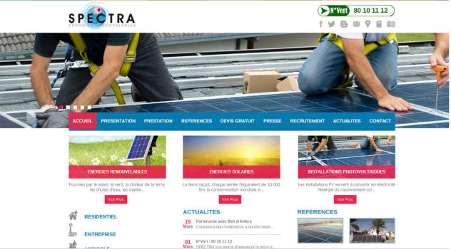 Spectra designed By Cresus (Web agency Offshore) by cresus-tunisie
