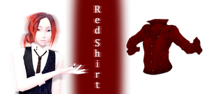 [MMD] Red shirt DL by JoanAgnes