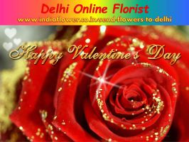 Valentine Day 2016 Flowers Delivery In Delhi by snehasingh47