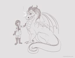 A Girl and Her Dragon Concept by autogatos