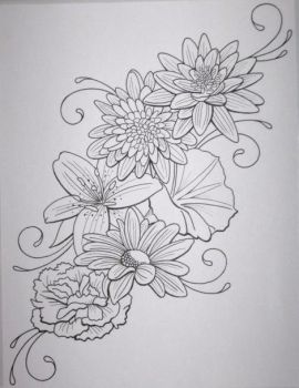Flower Tattoo by DanielleHope