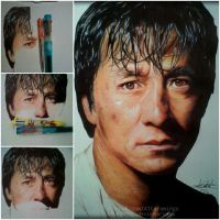jackie chan ballpoint pen drawing .(by Arthur T. C by ATCdrawings