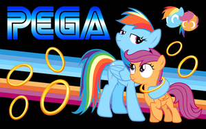 PEGA Sonic Rainboom Wallpaper One by TheGreenMachine987