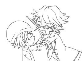 Yata and Fushimi Lineart by KuroNoHato