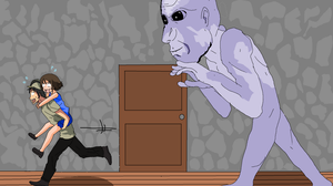 It's Ao Oni. RUN!!! by Fitorisan