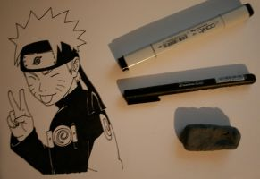 Naruto Inking by JessicaYin