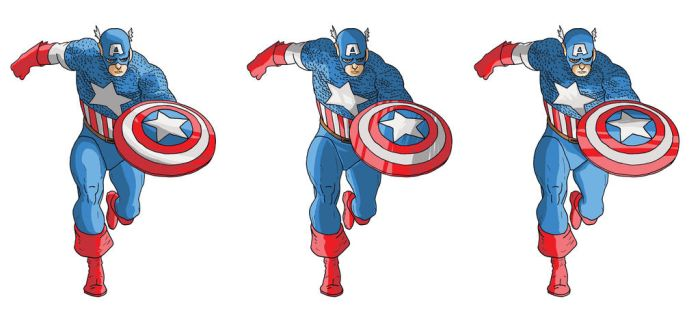 Captain America coloring exercise by cloud61587