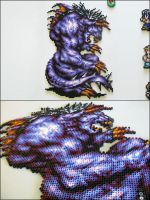 Final Fantasy 6 Behemoth bead sprite by 8bitcraft