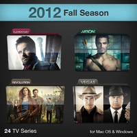 2012 Fall Season TV Series Folders by paulodelvalle