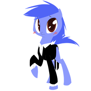 Pony in a suit by Nowler