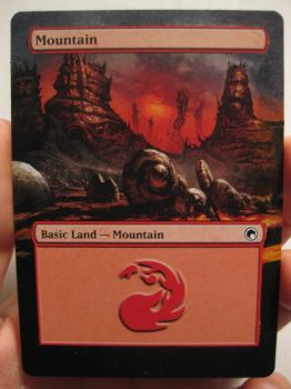 MtG Alter - Mountain from Scars of Mirroden by AmaryllisHakatri