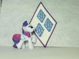 Rarity Cutie Mark Patch by ScrwLoose