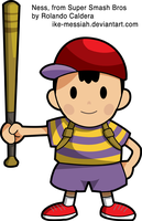 NESS -Super Smash Bros- HD Vector by Ike-Messiah