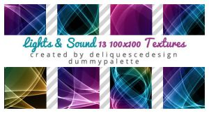 Light and Sound: 13 Icon Textures by deliquescedesign