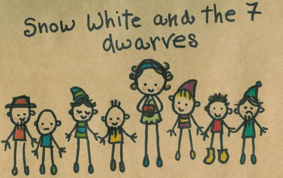 Snow white and the 7 dwarves by Pinkie-Perfect