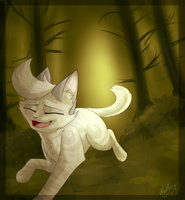 A Run Through the Forest by Bluefire-kitteh