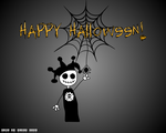 Skully - Happy Halloween - WP by Girl-In-Glass
