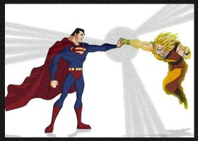 Goku X Superman by lrslink