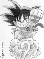 Goku - Dragon Ball DRAW by LGhost