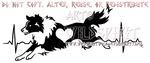 EKG Border Collie Design by WildSpiritWolf