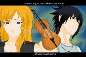FFSB: Konoha High - The Girl with the Violin by InaSaori