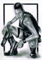 Angelina Jolie as Lara Croft by Snow-Owl