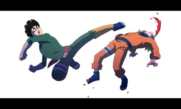 Rocklee Vs Naruto by a7md93