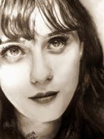 Zooey Deschanel Drawing by analuizantunes
