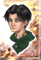 AoT - Lance corporal Levi by Coloralecante