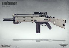 Wolfenstein: The New Order - AR Marksman rifle by torvenius